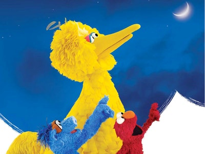 Big Bird Elmo Moon Card